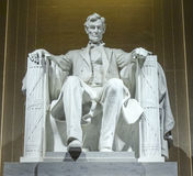 Abraham Lincoln Statue i Washington DC - Lincoln Memorial Royaltyfri Fotografi