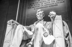 Abraham Lincoln Statue i Washington DC - Lincoln Memorial Arkivbilder