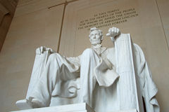 Abraham Lincoln statue in the Lincoln Memorial Stock Photography