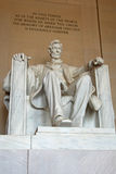 Abraham Lincoln statue in the Lincoln Memorial Royalty Free Stock Images