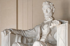 Abraham Lincoln Statue in Lincoln Memorial in Washington Stock Afbeelding