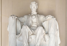 The Abraham Lincoln Statue at the Lincoln Memorial in Washington Royalty Free Stock Images