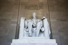 Abraham Lincoln statue. Lincoln memorial in Washington. America royalty free stock photos