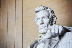 Abraham Lincoln statue. Lincoln memorial in Washington. America royalty free stock photo