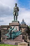 Abraham Lincoln statue on Old Calton Cemetery in Edinburgh, Scot royalty free stock photo