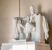 Abraham Lincoln Statue på Lincoln Memorial i Washington Arkivfoto