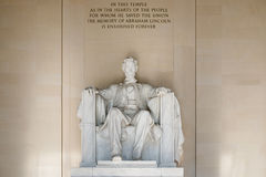 Abraham Lincoln Statue på Lincoln Memorial i Washington Royaltyfri Fotografi