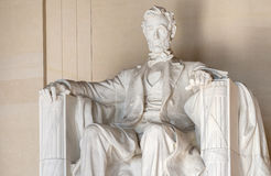 Abraham Lincoln Statue på Lincoln Memorial i Washington Royaltyfria Bilder