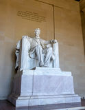 Abraham Lincoln Statue på Lincoln Memorial - Washington, D C , USA Royaltyfri Fotografi