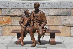 Abraham Lincoln statue in Richmond, Virginia. President Abraham Lincoln statue with son at the American Civil War Center in Richmond, Virginia Royalty Free Stock Photography