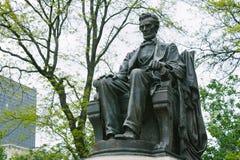 Abraham Lincoln staty Fotografering för Bildbyråer