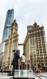 Abraham Lincoln staty i Chicago Royaltyfri Foto