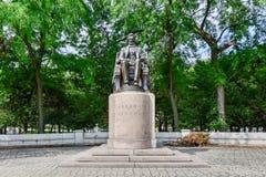 Abraham Lincoln staty i Grant Park Arkivbild