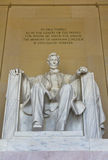 Abraham Lincoln staty i Lincoln Memorial i Washington DC Arkivfoton