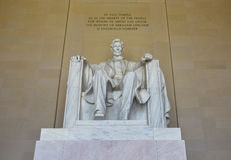 Abraham Lincoln staty i Lincoln Memorial i Washington DC Royaltyfri Fotografi