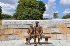 Abraham Lincoln staty i Richmond, Virginia Arkivbilder
