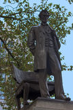 Abraham Lincoln staty, London Royaltyfri Bild