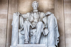 Abraham Lincoln staty på Washington DCminnesmärken Royaltyfria Bilder