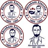 Abraham Lincoln stämplar Arkivfoto