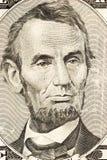 Abraham Lincoln su cinque Fotografie Stock