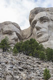 Abraham Lincoln & Theodore Roosevelt On Mount Rushmore Fotografie Stock