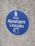 Abraham Lincoln, Unterhaltungsstatuen, NYC, NY, USA Lizenzfreie Stockfotos