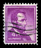 Abraham Lincoln US Postage Stamp Stock Photos