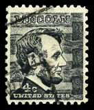 Abraham Lincoln US Postage Stamp Royalty Free Stock Photos