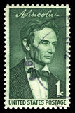 Abraham Lincoln US Postage Stamp Stock Photography