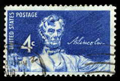 Abraham Lincoln US Postage Stamp Stock Image