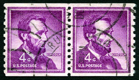 Abraham Lincoln USA portostämpel Royaltyfri Bild