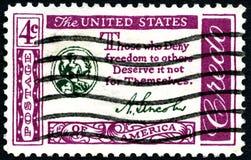 Abraham Lincoln USA portostämpel Royaltyfria Foton