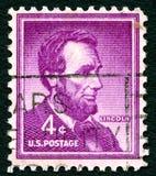 Abraham Lincoln USA portostämpel Arkivbild