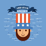 Abraham lincoln usa related image. Vector illustration design Stock Photos