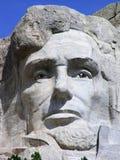 Abraham Lincoln vänder mot på Mount Rushmore, South Dakota, USA arkivbild
