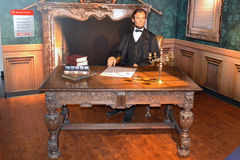 Abraham Lincoln vaxstaty Arkivfoto
