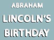 Abraham Lincoln-verjaardag Royalty-vrije Stock Afbeeldingen