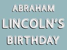 Abraham Lincoln-verjaardag Stock Foto's