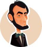 Abraham Lincoln Vetora Caricature Illustration ilustração royalty free