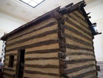 Abraham Lincolns Log Cabin-Haus in Bardstown Kentucky USA Lizenzfreie Stockbilder