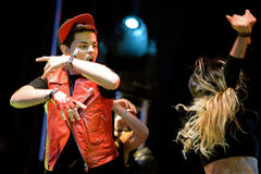 Abraham Mateo (ισπανικός λαϊκός τραγουδιστής) στο λαϊκό φεστιβάλ Primavera Στοκ φωτογραφία με δικαίωμα ελεύθερης χρήσης