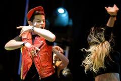 Abraham Mateo (cantante di schiocco dello Spagnolo) al festival di schiocco di Primavera Fotografia Stock Libera da Diritti