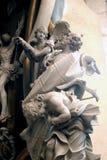 Abraham Sacrificing Isaac Royaltyfri Fotografi