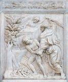 Abraham Sacrificing Isaac Arkivbilder