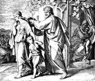 Abraham Sends Ishmael Away Fotos de archivo libres de regalías