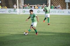 Abraham Villon con pallone da calcio Fotografia Stock