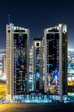 Abraj Al Lulu巴林鸟瞰图  图库摄影