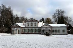 The main manor house in the museum-reserve `Abramtsevo` royalty free stock photos