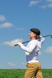 Abrandamento após um objetivo marcado no golfe imagem de stock royalty free