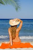 Abrandamento em férias de verão Fotografia de Stock Royalty Free